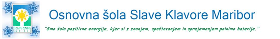 Spletna stran OŠ Slave Klavore Maribor