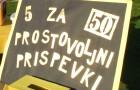 Prostovoljni prispevki na Memorialnem pohodu Petka za petdeset